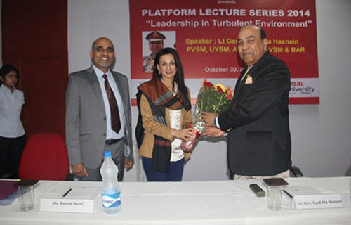 Platform Lecture Series by Lt Gen Syed Ata Hasnain